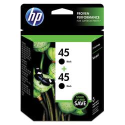 HP - Hp 45-C6650F Siyah Orjinal Kartuş İkili Paket