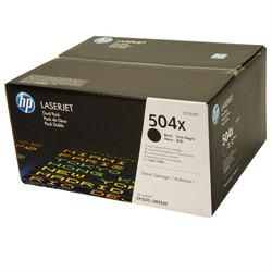 HP - Hp 504X-CE250XD Siyah Orjinal Toner Yüksek Kapasiteli İkili Paket