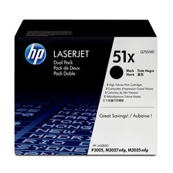HP - Hp 51X-Q7551XD Orjinal Toner Yüksek Kapasiteli İkili Paket