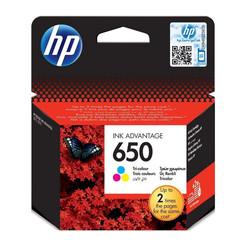 Hp 650-CZ102AE Renkli Orjinal Kartuş - Thumbnail