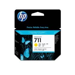 HP - Hp 711-CZ136A Sarı Orjinal Kartuş 3Lü Paket