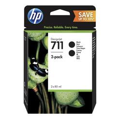 HP - Hp 711-P2V31A Siyah Orjinal Kartuş 2Li Paket