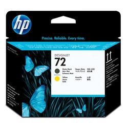HP - Hp 72-C9384A Orjinal Sarı Ve Mat Siyah Baskı Kafası