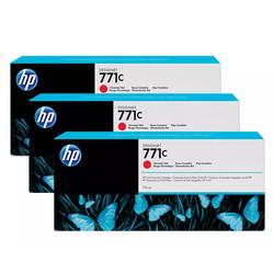 HP - Hp 771c-B6Y32A Kromatik Kırmızı Orjinal Kartuş 3Lü Paket