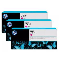 HP - Hp 771c-B6Y33A Kırmızı Orjinal Kartuş 3Lü Paket