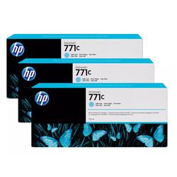 HP - Hp 771c-B6Y36A Açık Mavi Orjinal Kartuş 3Lü Paket
