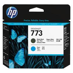HP - Hp 773c-C1Q20A Orjinal Mat Siyah ve Mavi Baskı Kafası