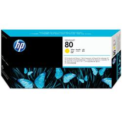 HP - Hp 80-C4823A Orjinal Sarı Baskı Kafası ve Kafa Temizleyici