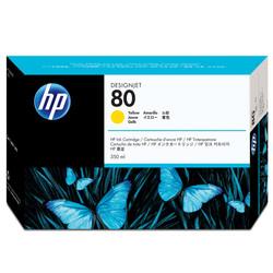 HP - Hp 80-C4848A Sarı Orjinal Kartuş Yüksek Kapasiteli