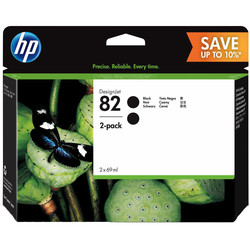 HP - Hp 82-P2V34A Siyah Orjinal Kartuş 2Li Paket