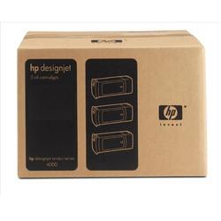 HP - Hp 90-C5084A Kırmızı Orjinal Kartuş 3Lü Paket