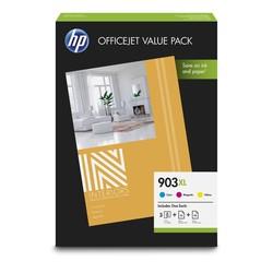 HP - Hp 903XL-1CC20AE Orjinal Renkli Kartuşlu Avantajlı Fotoğraf Paketi