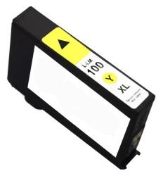 Lexmark - Lexmark 100XL-14N1071E Sarı Muadil Kartuş Yüksek Kapasiteli