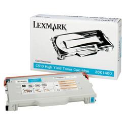 Lexmark - Lexmark C510-20K1400 Mavi Orjinal Toner