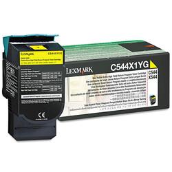 Lexmark - Lexmark C544-C544X1YG Sarı Orjinal Toner Extra Yüksek Kapasiteli