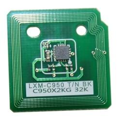 Lexmark - Lexmark C950-C950X2KG Siyah Toner Chip