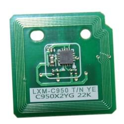 Lexmark - Lexmark C950-C950X2YG Sarı Toner Chip