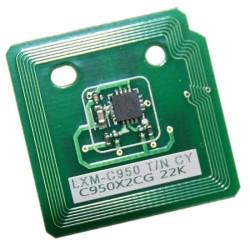 Lexmark - Lexmark X950-X950X2CG Mavi Toner Chip