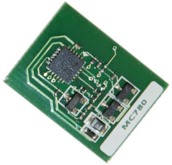 Oki - Oki MC760-45396303 Mavi Toner Chip