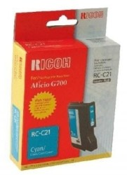 Ricoh - Ricoh Aficio RC-C21 Mavi Orjinal Kartuş
