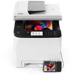Ricoh - Ricoh SP-C260SFNw A4 Tarayıcı Fax Fotokopi Renkli Yazıcı